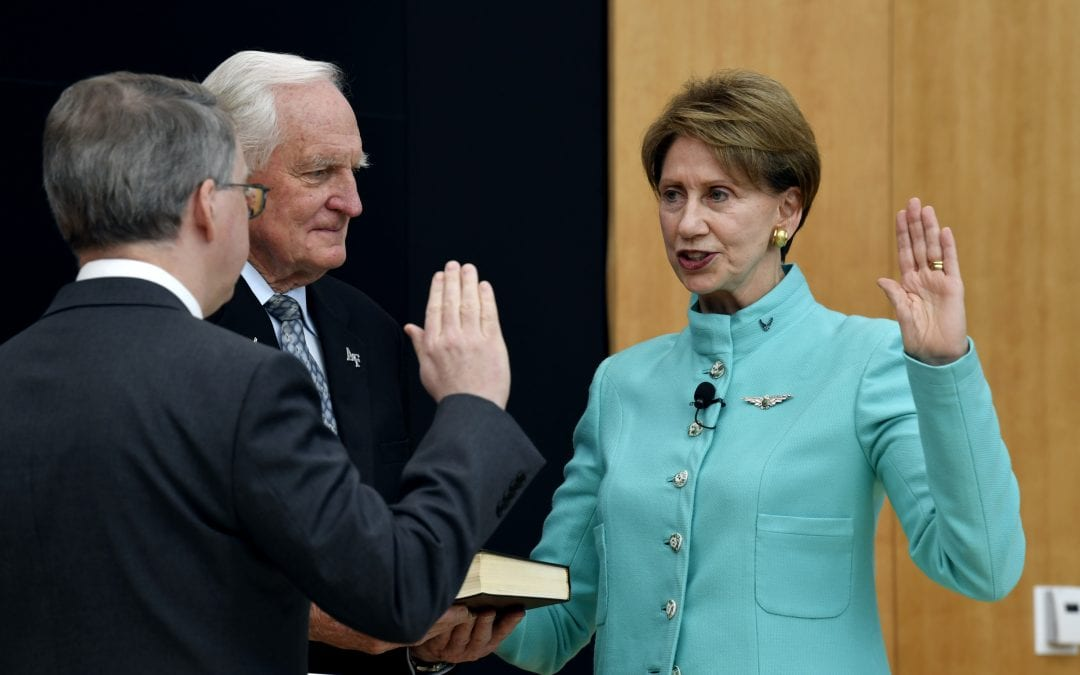 Barrett publicly sworn in as secretary of the Air Force